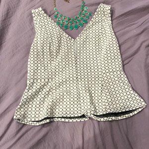 Sleeveless tank blouse
